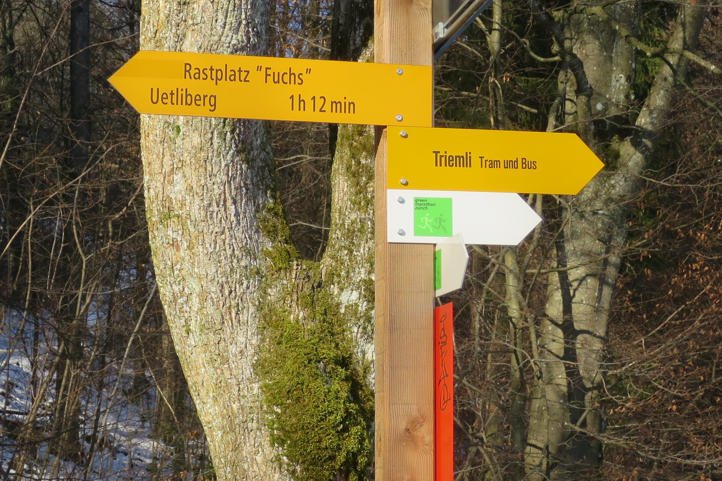 Green Marathon - Wegweiser